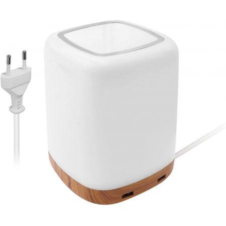 Lampe LED pour table de nuit avec chargeur USB à 4 ports