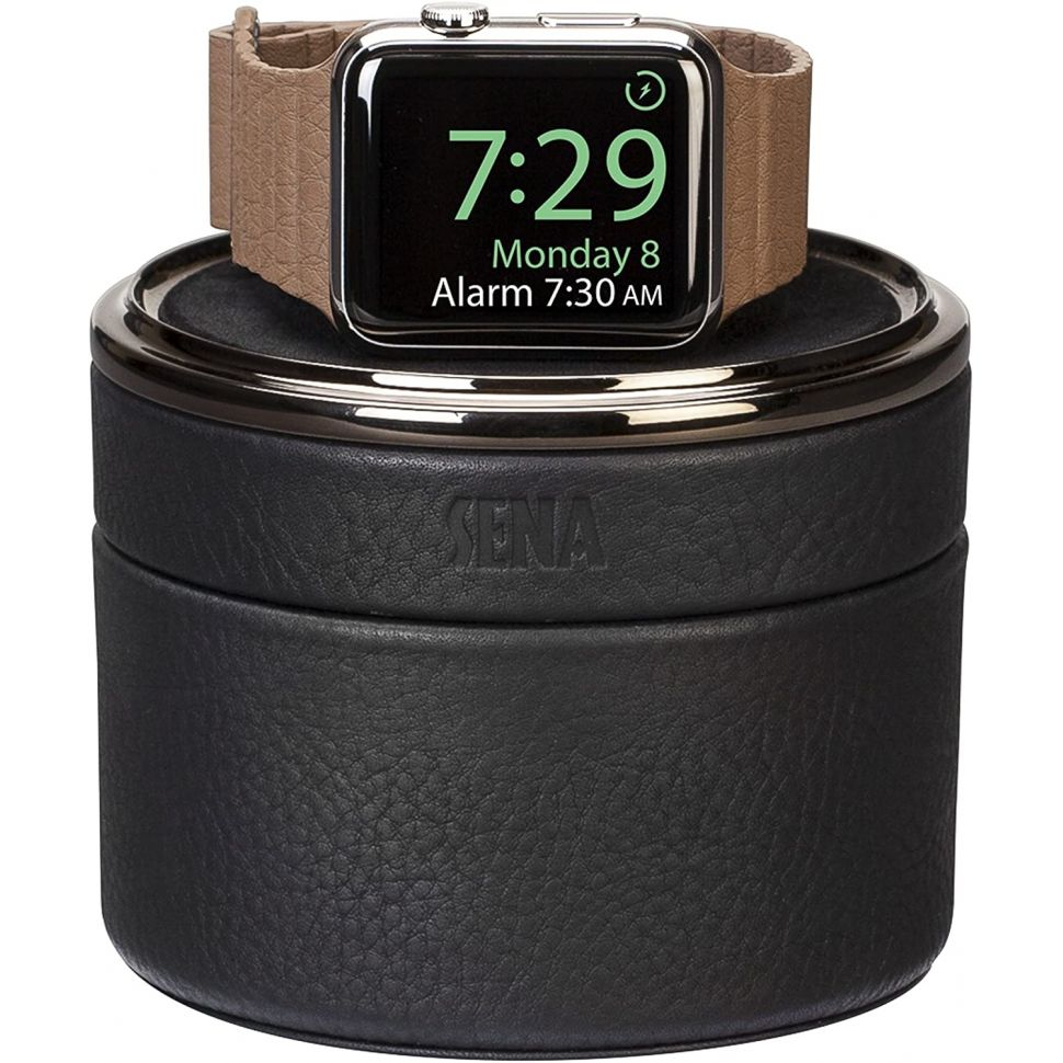 Sena Leather Case for Apple Watch - Black