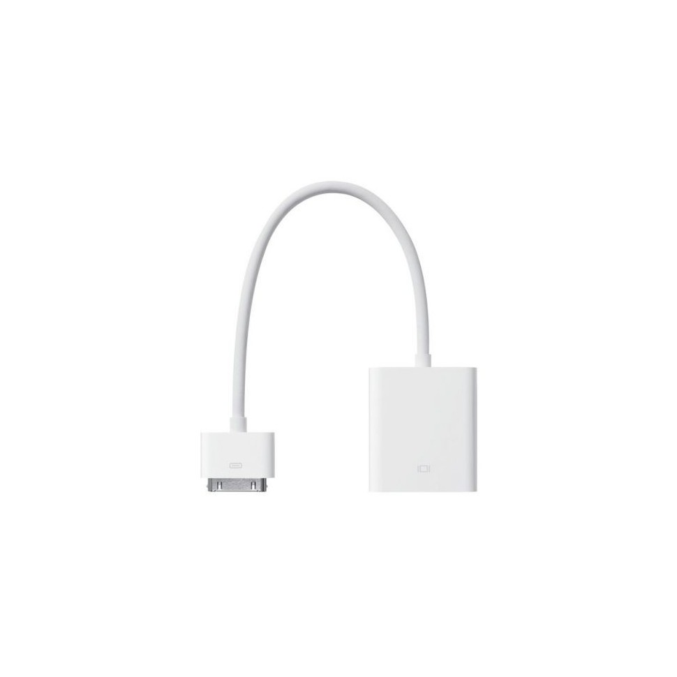 Adaptateur Apple dock connector 30 broches vers VGA Apple
