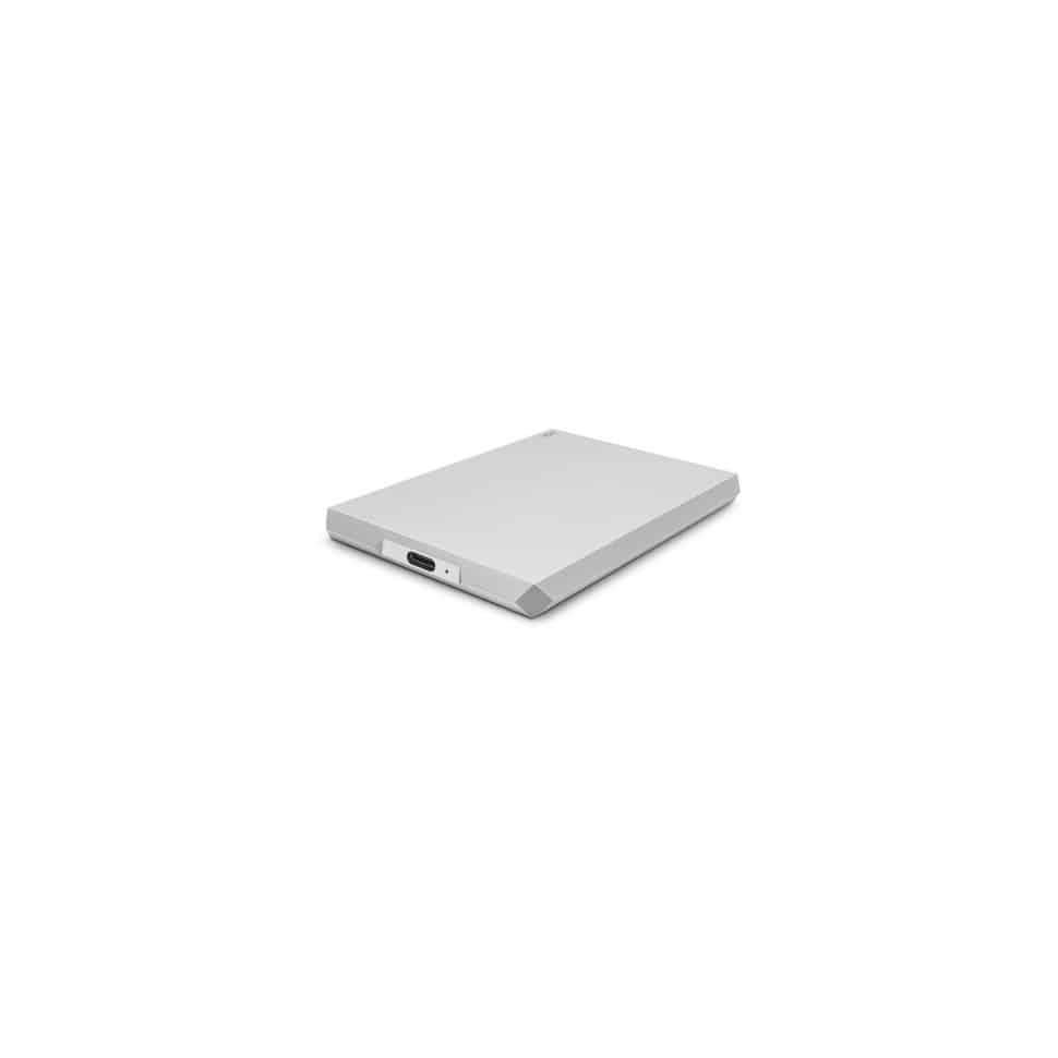 Disque Dur Externe Portable USB-C et USB 3.0 Moon Silver - Lacie