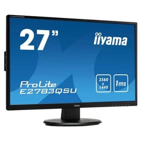"""Moniteur LCD iiyama E2783QSU-B1 - 27"""" 2560/1440 - HDMI/DVI"""