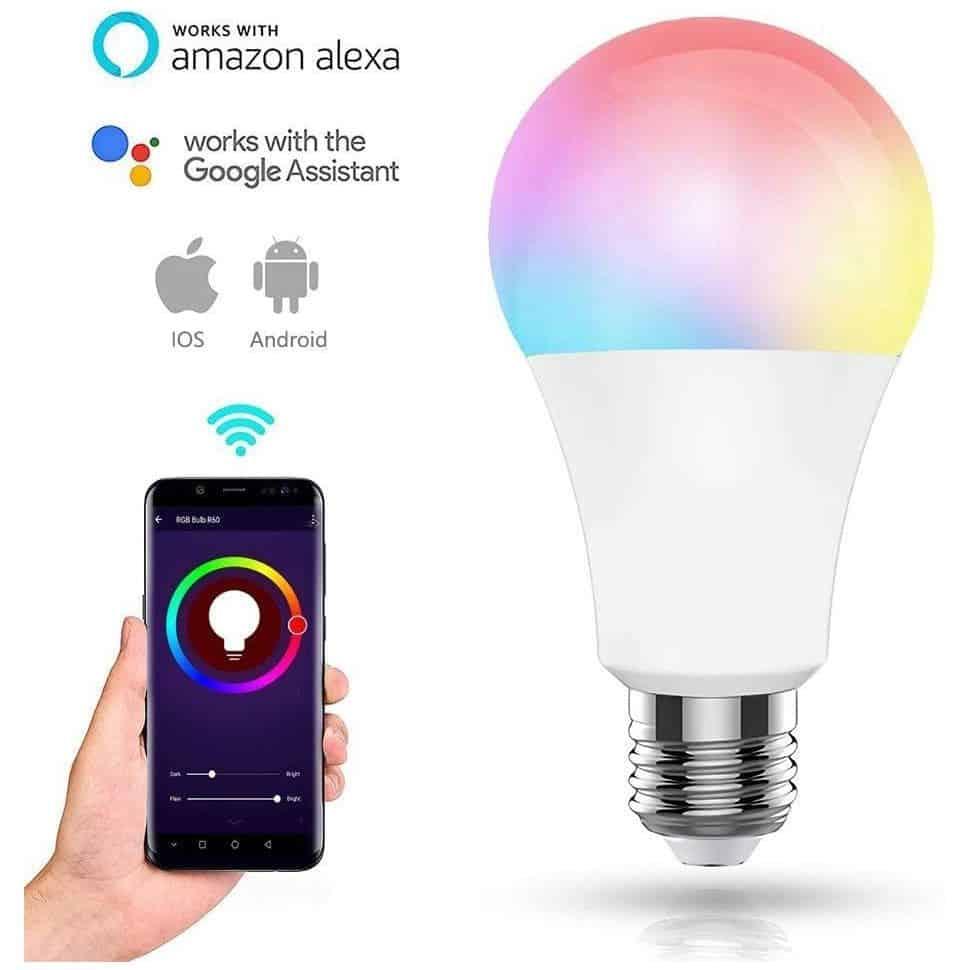 Ampoule E27 multicolore connectée MCL